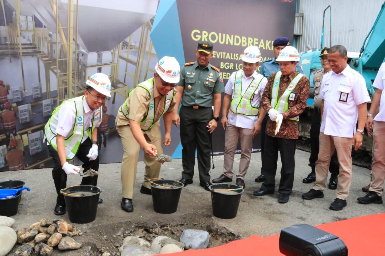 Akhyar Letakkan Batu Pertama Revitalisasi Gudang PT BGR
