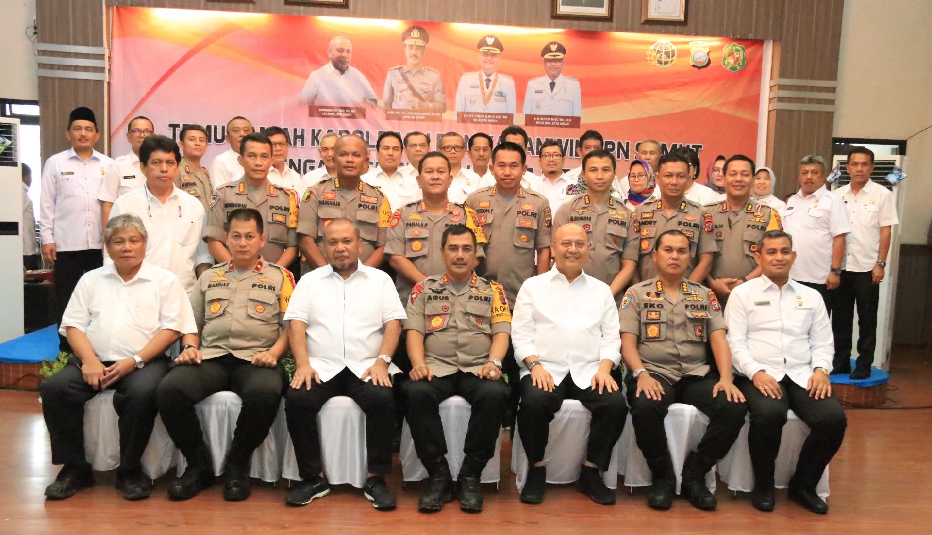 Dukung Pemko Medan Wali Kota Apresiasi Polda dan BPN Sumut