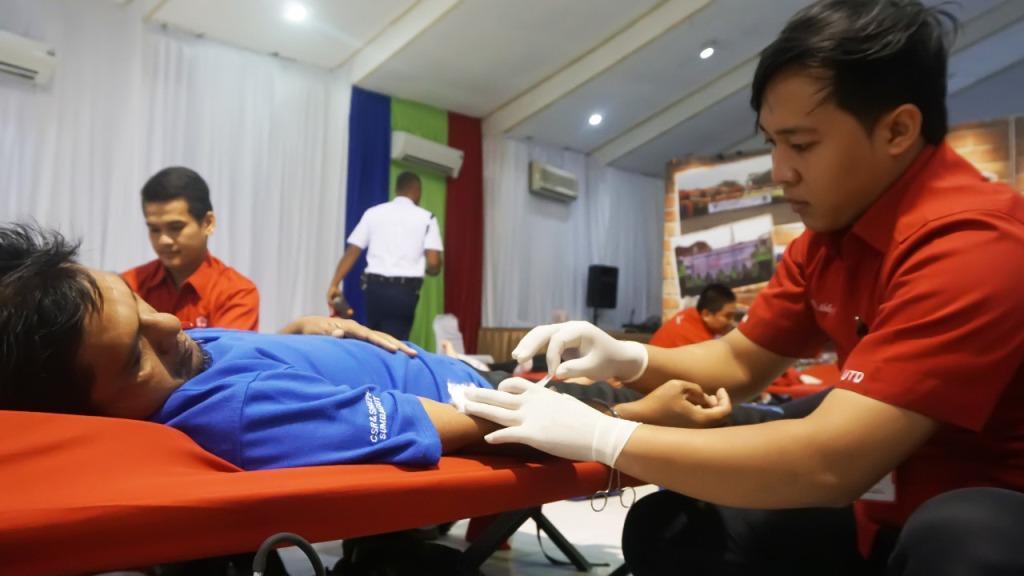 Dukung Tingkatkan Kesehatan Masyarakat, Pertamina MOR I Lakukan Donor Darah