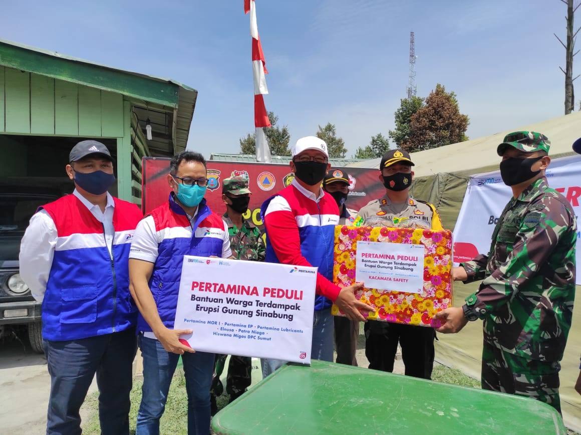 HUT RI, Pertamina Bantu Warga Korban Erupsi Sinabung