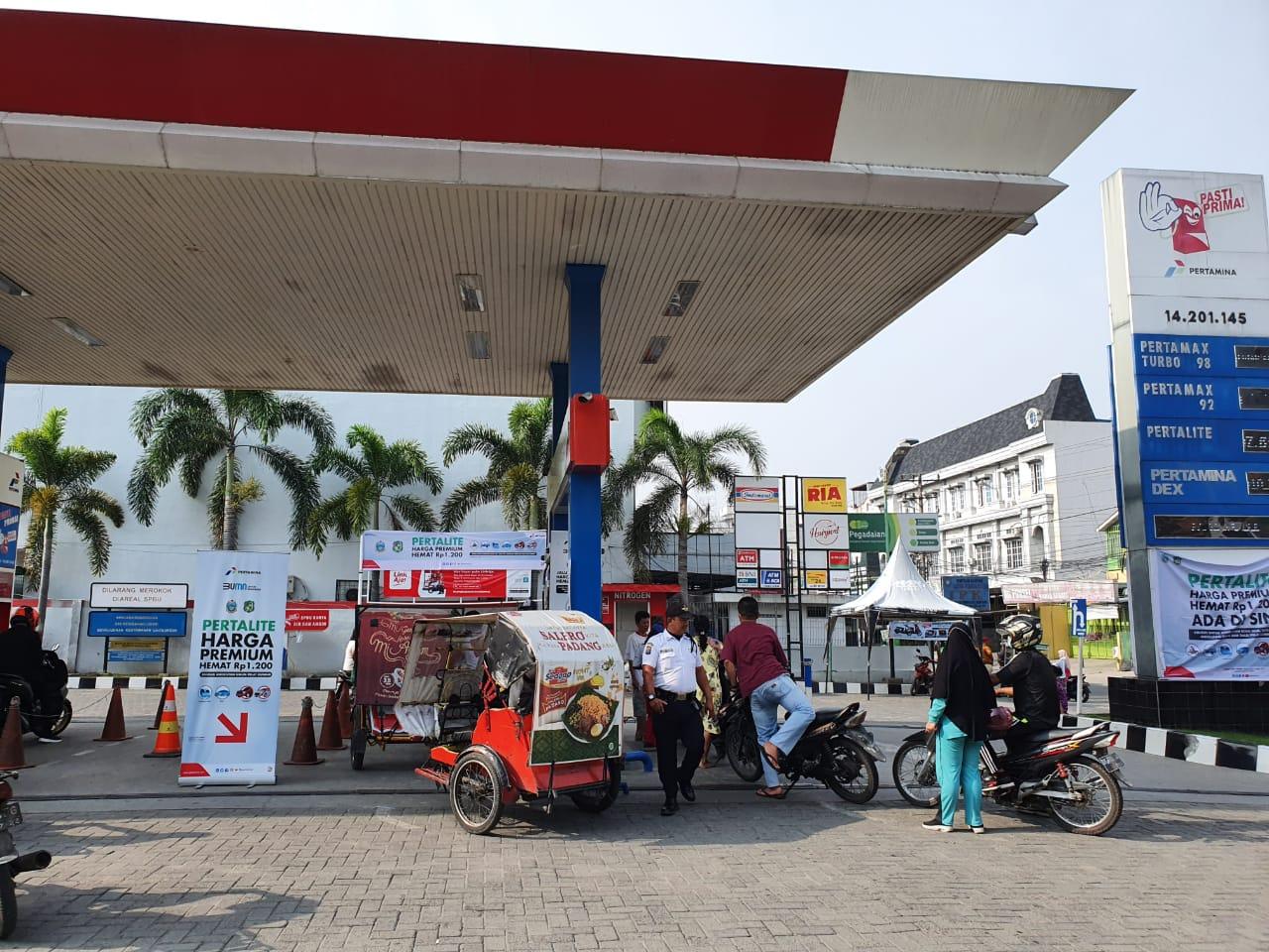 Melalui PLB, Dua SPBU di Medan Sediakan Pertalite Seharga Premium