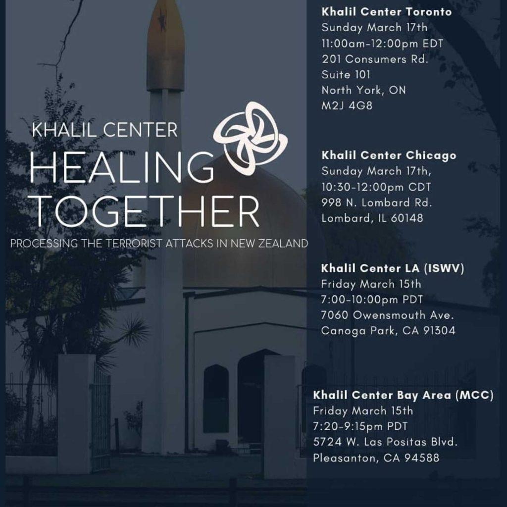 Pasca Serangan Masjid Selandia Baru, Khalil Center Amerika Utara Ini Gelar Healing Together