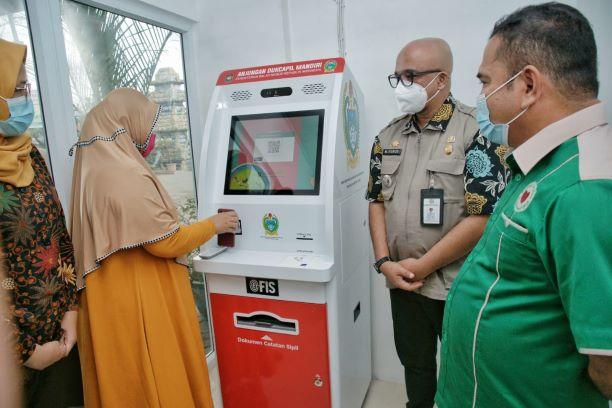 Pemko Medan Resmikan Mesin ADM di Kantor Camat Medan Marelan