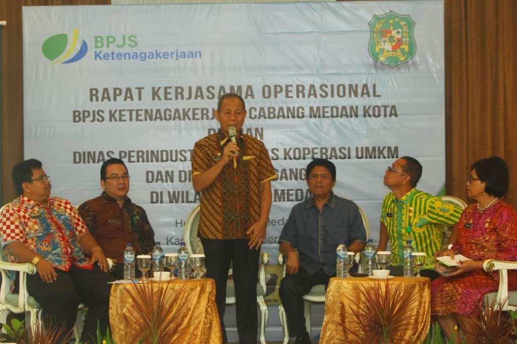 Pemko Medan Siap Dukung Pekerja dan Mitra Binaan Jadi Peserta BPJS Ketenagakerjaan