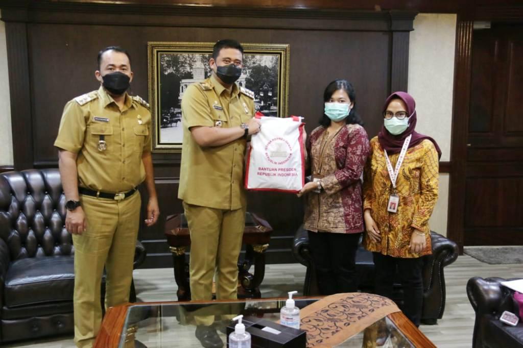 Pemko Medan Terima Bantuan 1.000 Paket Sembako Dari Sekretariat Negara