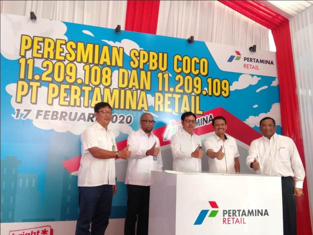 Pertamina Resmikan 2 SPBU Di Jalur Tol Medan-Tebingtinggi