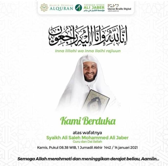 Syekh Ali Jaber Tutup Usia